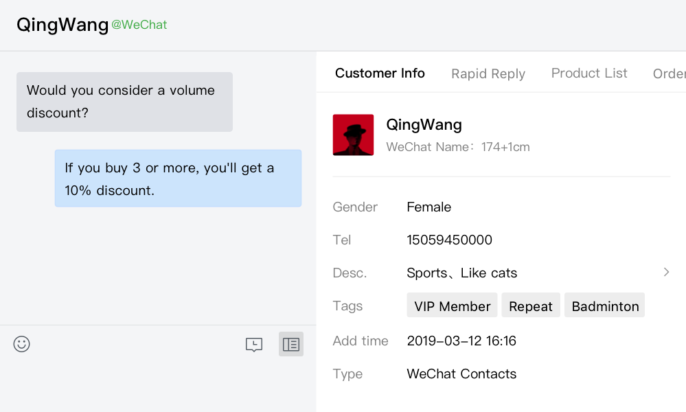 - Admins can add app pages to the chat sidebar for members to use to improve service efficiency.
